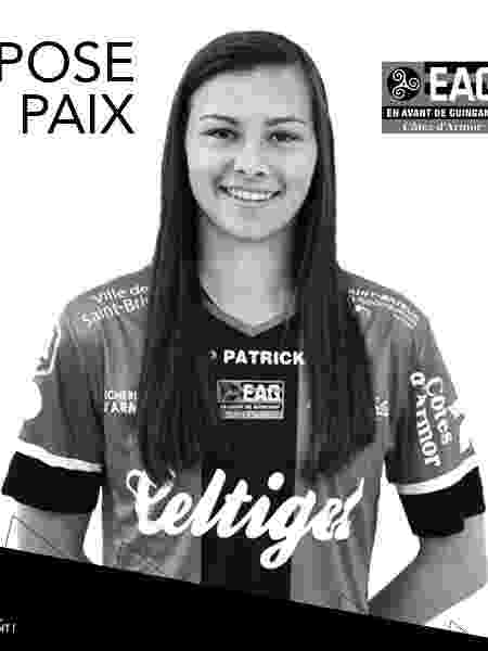 Oceane Rogon, jogadora do Guingamp - Twitter/EAGuingamp