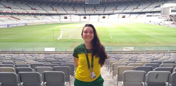 Karina trabalhou como estagiária no Museu Brasileiro do Futebol, no Mineirão - Arquivo Pessoal