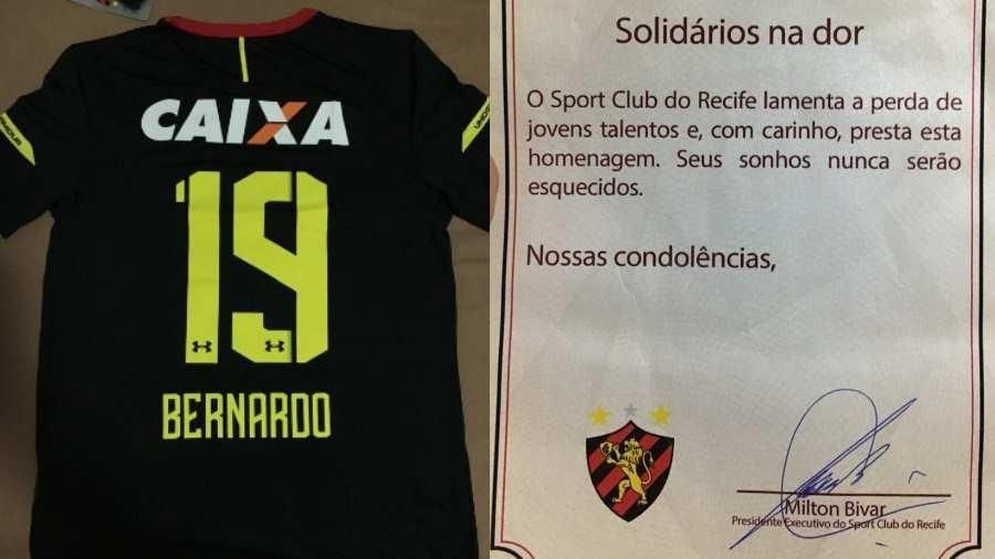 dfd711f08a4e9 Sport envia camisas com nome de vítimas do Ninho e deixa famílias radiantes