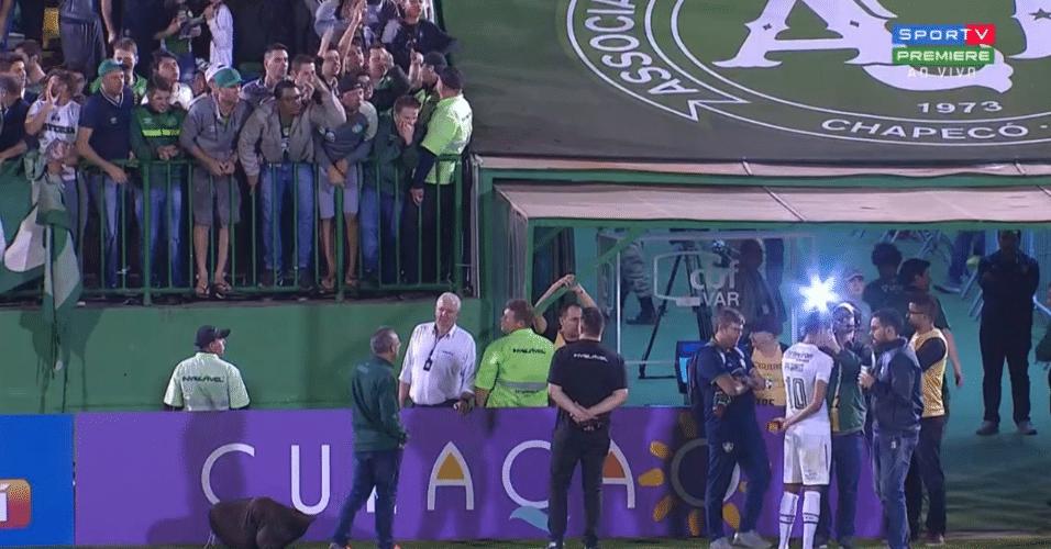 Ganso, durante entrevista após partida entre Fluminense e Chapecoense