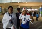 """Japoneses encaram 30 horas de viagem e """"se perdem"""" antes de jogo no RS - Marinho Saldanha/UOL"""