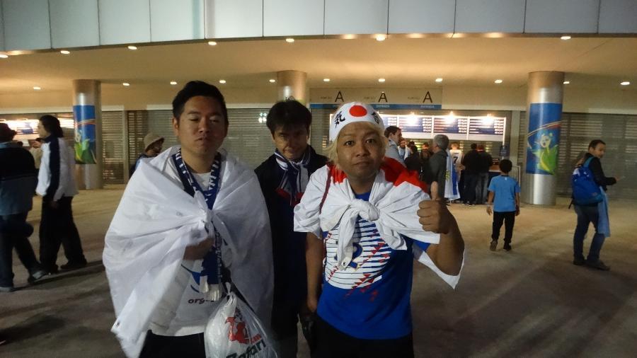 Japoneses se perderam antes de chegar na Arena do Grêmio - Marinho Saldanha/UOL