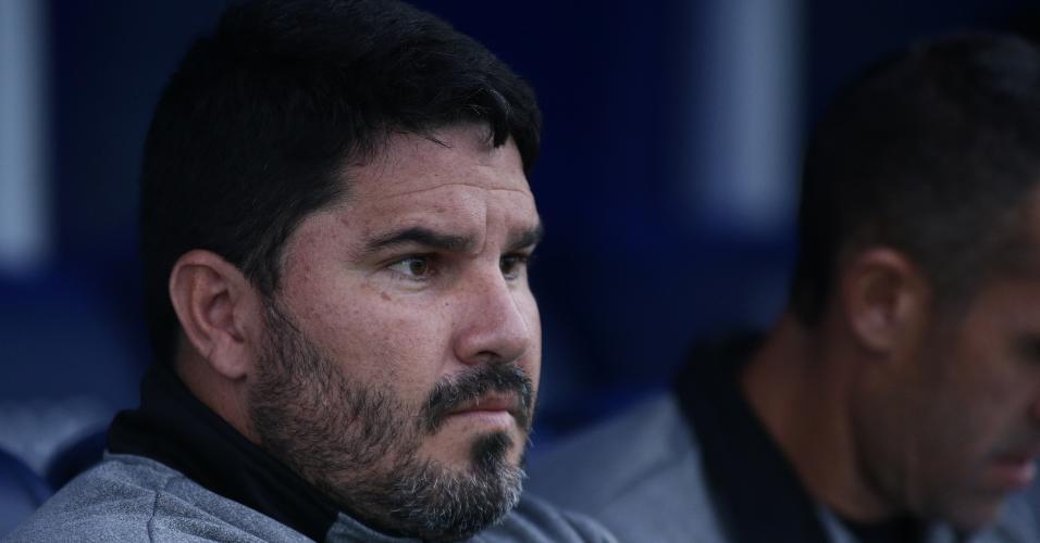 Eduardo Barroca, técnico do Botafogo, acompanha o jogo contra o Avaí