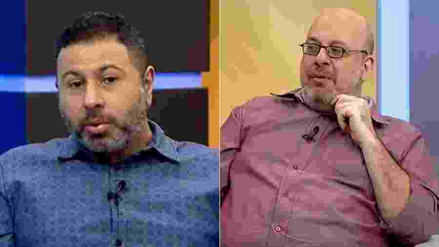 Mário Marra (à esquerda) e Vitor Birner (à direita) deram opiniões bem diferentes sobre Neymar - Reprodução/ESPN Brasil