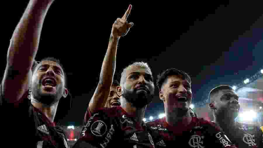 Gabigol comemora triunfo do Flamengo sobre o Grêmio no Maracanã; Atenção voltada para o Brasileiro - Bruno Baketa/AGIF