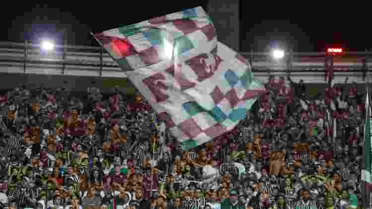 Torcida do Fluminense na partida contra o Atlético-MG, no Maracanã - LUCAS MERÇON/ FLUMINENSE F.C. - LUCAS MERÇON/ FLUMINENSE F.C.