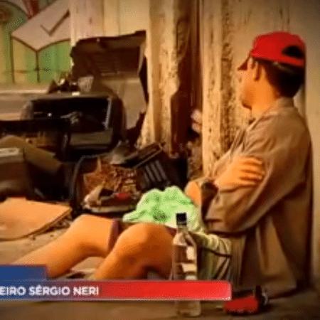 Imagem feita pela TV Record que rendeu processo do ex-goleiro Sérgio Neri - Reprodução/TV Record