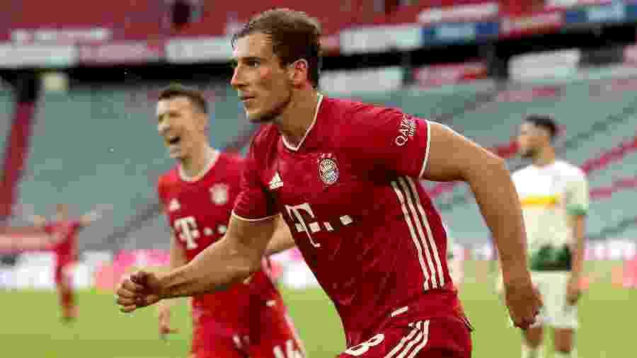 Joshua Zirkzee e LeonGoretzka (foto) marcaram os gols da vitória bávara sobre o Borussia Monchengladbach - Alexander Hassenstein/Getty Images