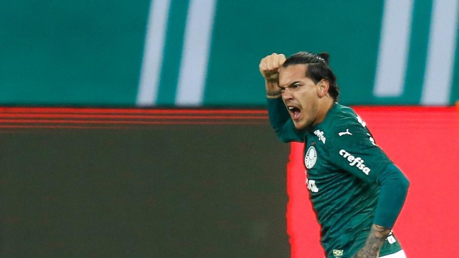 Gustavo Gomez, do Palmeiras, comemora gol diante do Goiás - Marcello Zambrana/AGIF