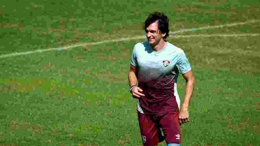 Matheus Ferraz voltou aos treinos com bola no Fluminense - Mailson Santana/Fluminense FC
