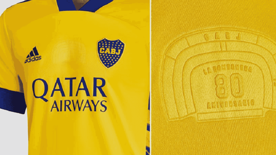 Nova camisa alternativa do clube argentino homenageia o estádio La Bombonera - Divulgação