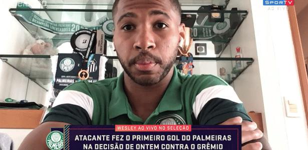 Wesley, do Palmeiras, não esperava ser escalado na final: 'Fiquei surpreso'