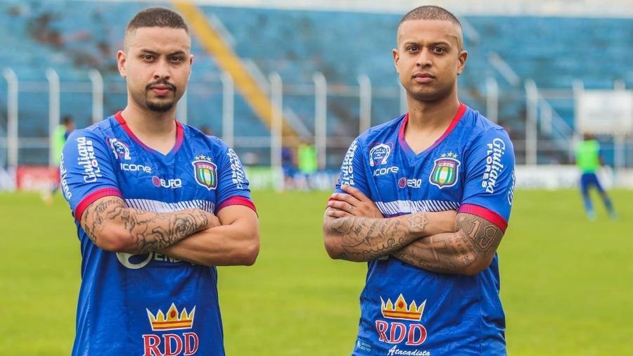 Lucas e Matheus Surcin, filhos de Marcelinho Carioca, são os reforços do São Caetano - Léo Lima/Divulgação