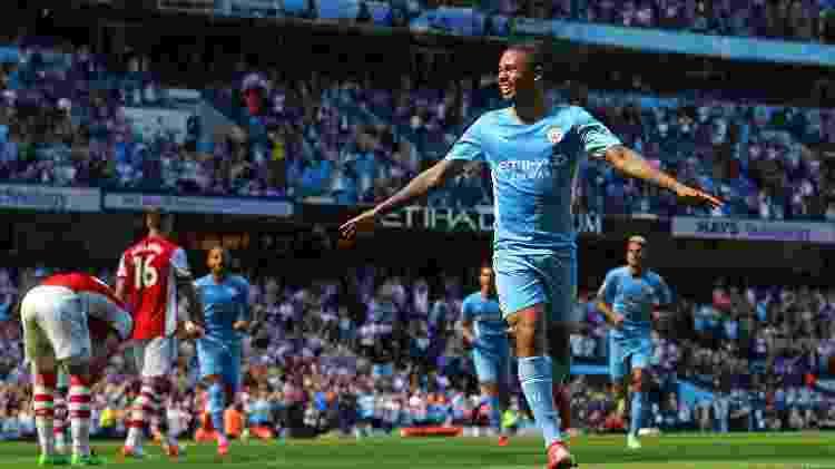 Gabriel Jesus comemora gol marcado pelo Manchester City contra o Arsenal - Chloe Knott - Danehouse/Getty Images - Chloe Knott - Danehouse/Getty Images