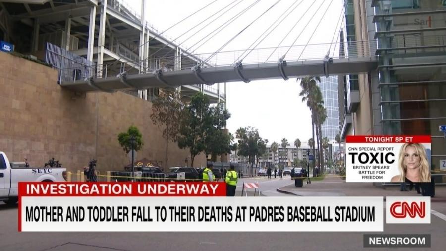 Mulher e filho morrem antes de jogo do San Diego Padres - Reprodução/CNN