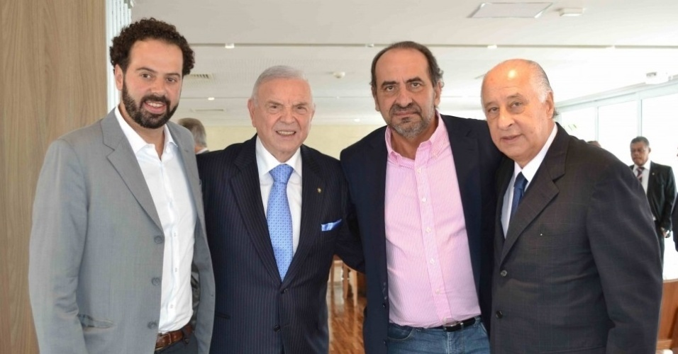 Em fevereiro o presidente Daniel Nepomuceno visitou a CBF, acompanhado do ex-presidente Alexandre Kalil