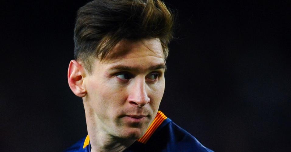 Messi com a braçadeira de capitão do Barcelona em 2015