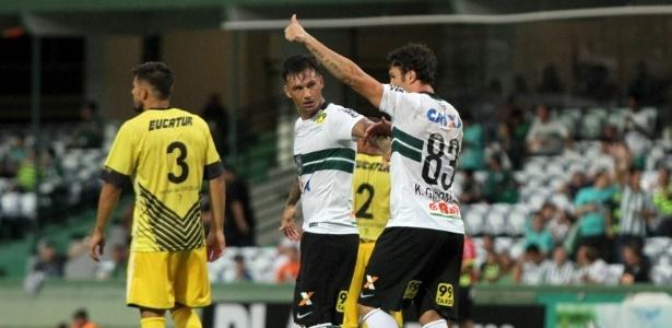 Kleber comemora gol marcado pelo Coritiba contra o Cascavel - Divulgação