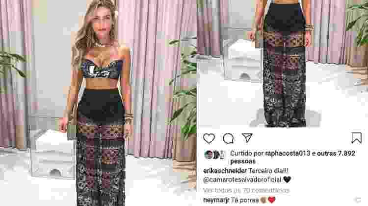 Neymar comenta em foto de Erika Schneider, bailarina do Faustão - Reprodução/Instagram - Reprodução/Instagram