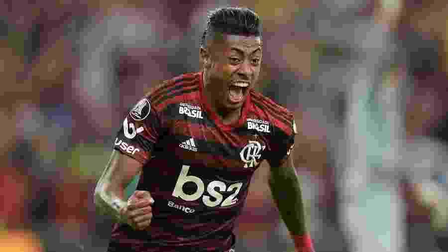 Bruno Henrique comemora gol do Flamengo contra o Internacional nas quartas de final da Libertadores -     Thiago Ribeiro/AGIF