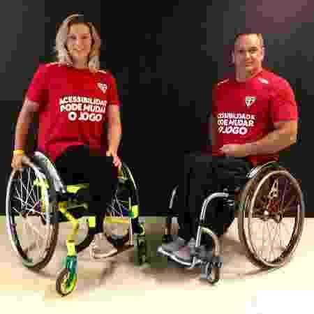 Paola e Nilton, atletas paralímpicos que serão gandulas na partida deste domingo - Divulgação