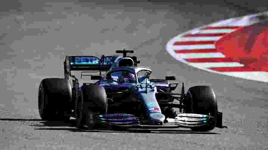 Lewis Hamilton durante o GP dos EUA que lhe rendeu o hexa na F-1 - Clive Mason/Getty Images/AFP