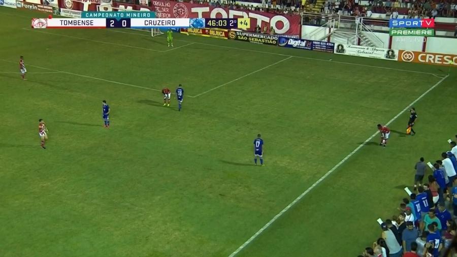 Cruzeiro e Tombense, pelo Campeonato Mineiro - Reprodução