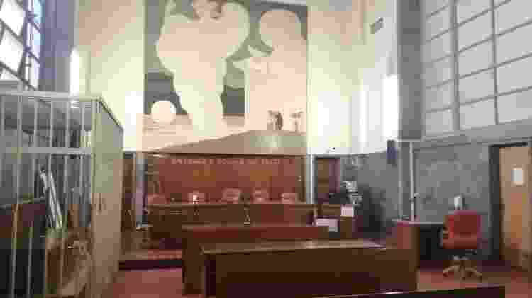 Sala da audiência do julgamento em 2ª instância de Robinho - Janaina Cesar/UOL - Janaina Cesar/UOL