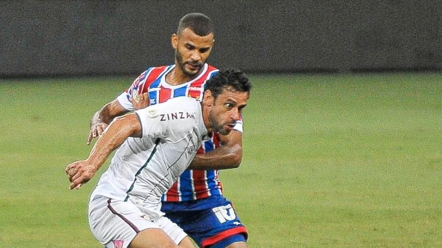 Fred tenta se desmarcar durante Bahia x Fluminense, jogo do Brasileirão 2020 - Jhony Pinho/AGIF