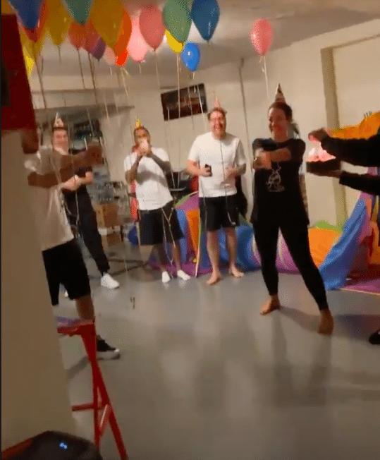 Festa surpresa de Neymar Jr
