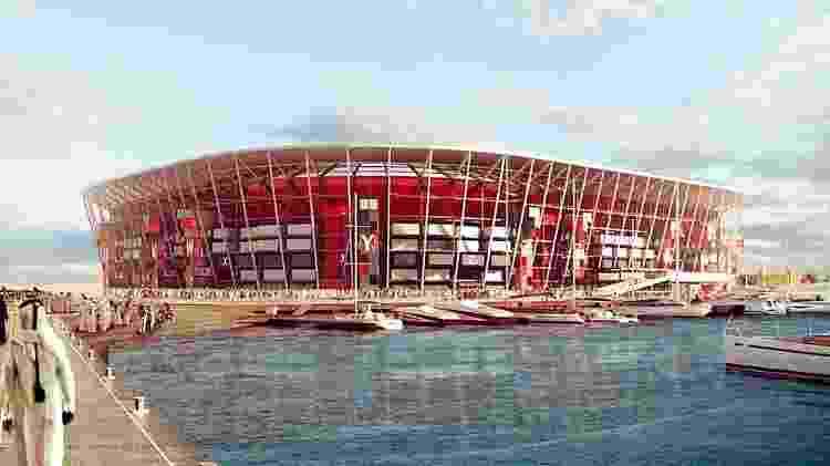Estádio Ras Abu Aboud, em Doha - Divulgação - Divulgação