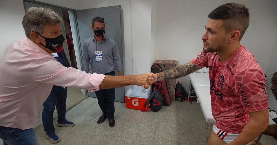 Renato Gaúcho e Arrascaeta no Maracanã