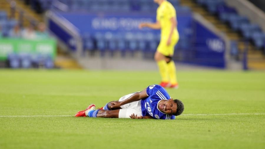 Fofana, do Leicester, fraturou fíbula da perna esquerda em amistoso contra o Villarreal - Plumb Images/Leicester City FC via Getty Images