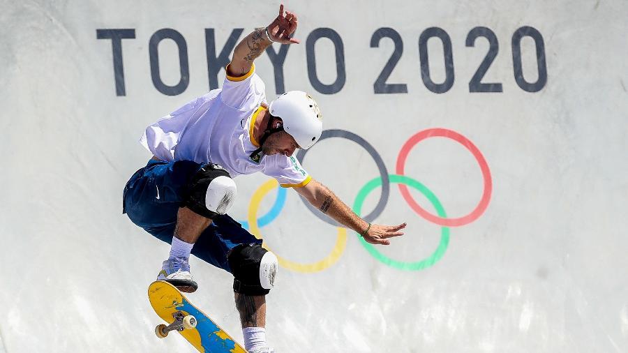 Pedro Barros, medalhista de prata do skate park, nos Jogos Olímpicos de Tóquio-2020 - Gaspar Nóbrega/COB/Gaspar Nóbrega/COB