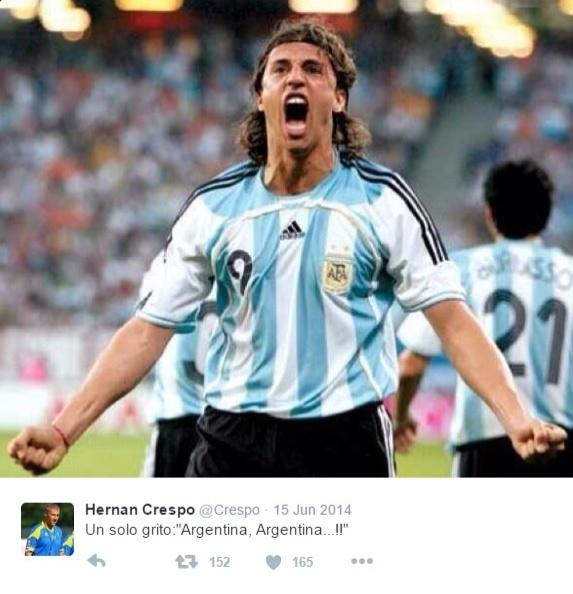 Hernán Crespo, ex-atacante da seleção argentina