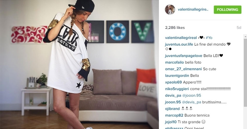 Valentina Allegri é filha do técnico da Juventus