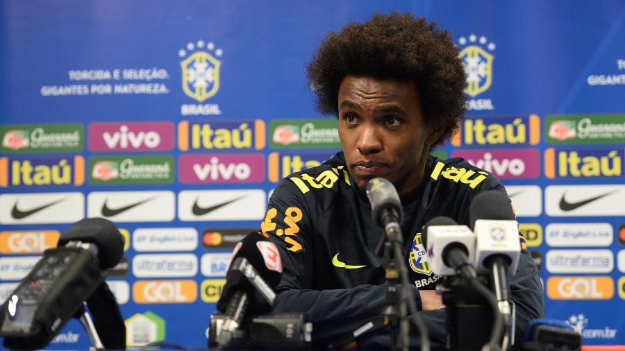 Willian concede entrevista coletiva após treino da seleção brasileira - Pedro Martins/ MoWa Press