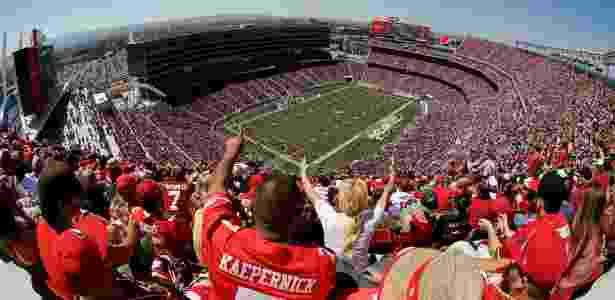 O Levi's Stadium em partida do San Francisco 49ers em agosto de 2014 - Ezra Shaw - 17.ago.2014/Getty Images/AFP - Ezra Shaw - 17.ago.2014/Getty Images/AFP
