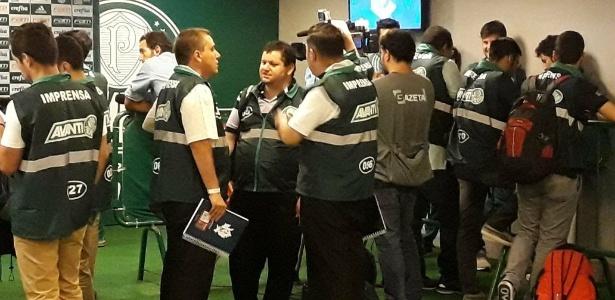 f05cddb43b Coletes para jornalistas no Allianz geram reclamações contra o Palmeiras