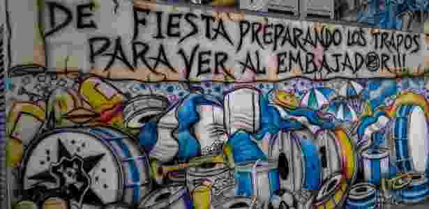Mural da torcida do Millionarios - Fernando Moura/Colaboração para o UOL - Fernando Moura/Colaboração para o UOL