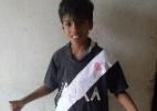 Pequeno vascaíno viraliza com camisa de papel e sonha conhecer Martín Silva - Divulgação / Instagram