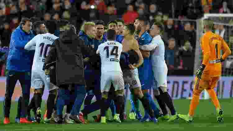 Confusão Valencia x Getafe - Jose Jordan/AFP - Jose Jordan/AFP
