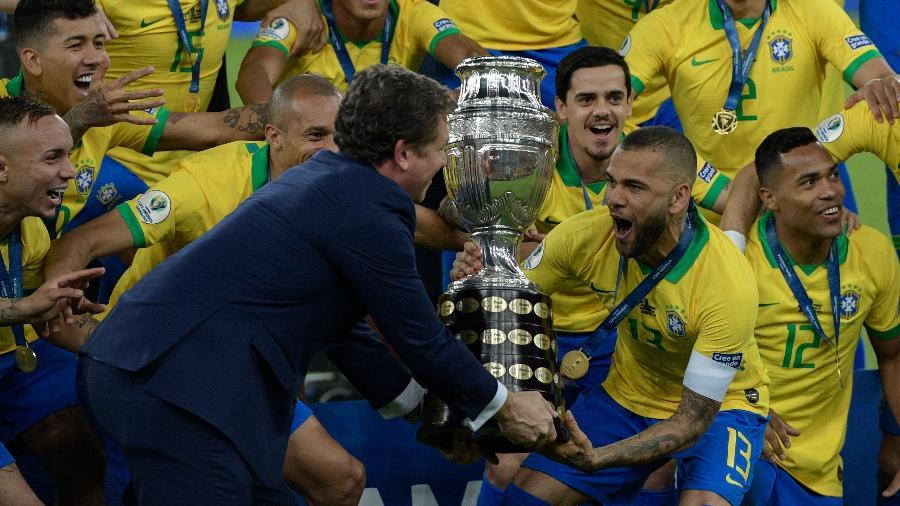 Realizada no Brasil e com Brasil campeão, Copa América foi tema mais buscado de 2019 - Juan MABROMATA / AFP