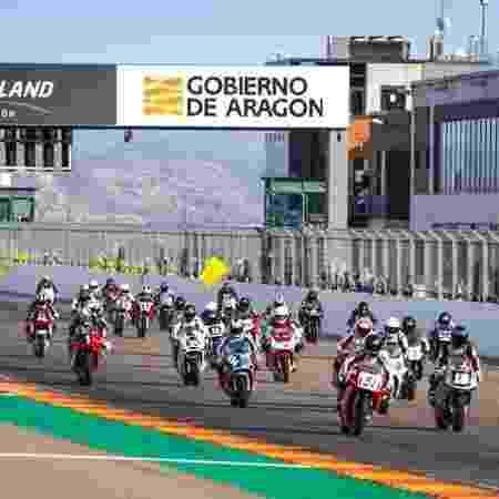 Corrida de motovelocidade no circuito MotorLand, em Aragón - Divulgação/MotorLand Aragón