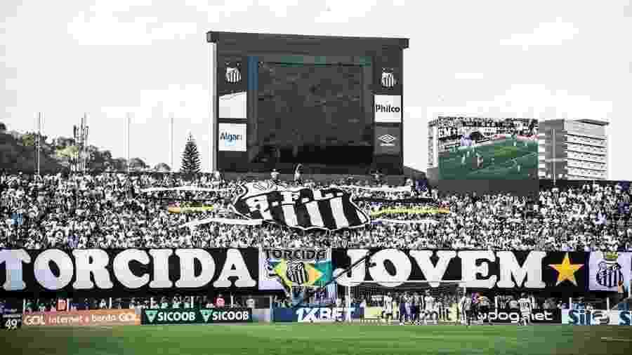 Vila Belmiro foi essencial para o Santos virar líder, mas testemunhou tropeços que custaram a posição - Ivan Storti/Santos FC
