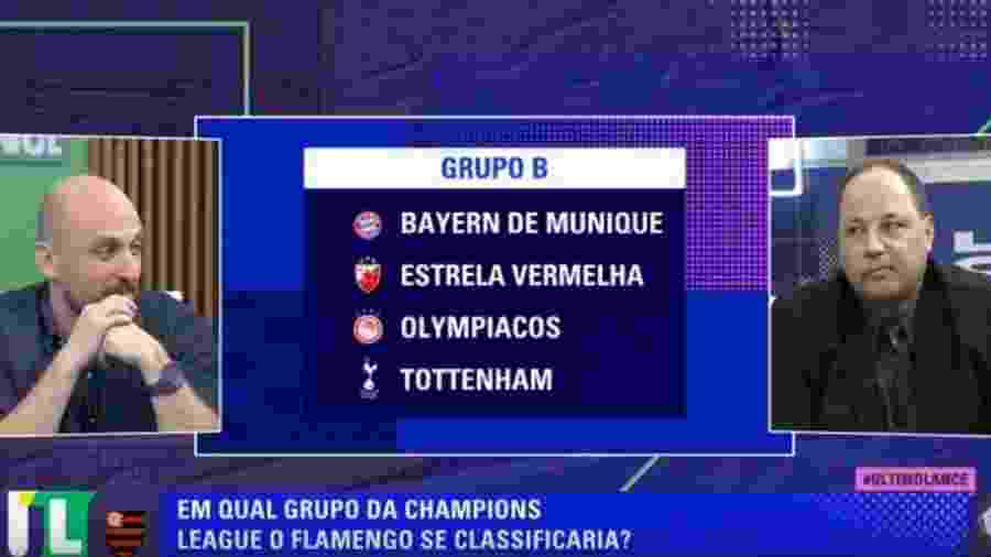 "TNT analisa ""chances do Flamengo na Champions League"" - reprodução/TNT"