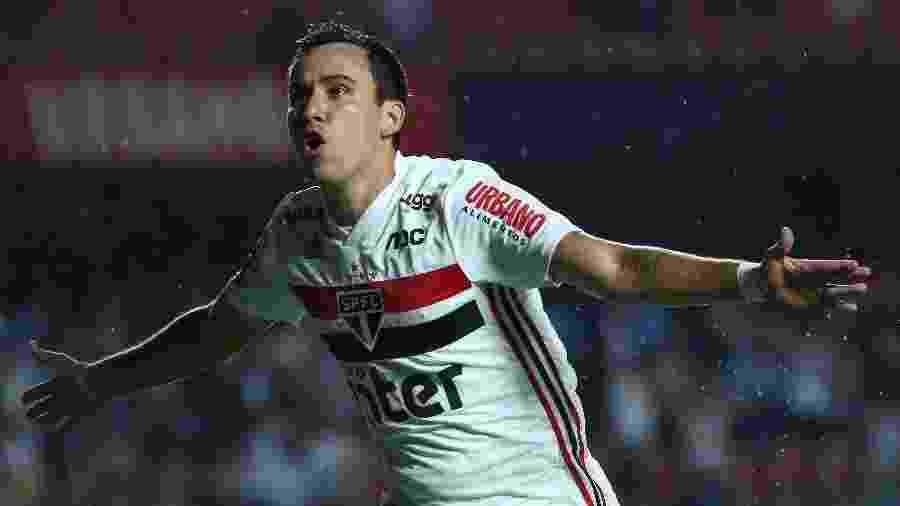 Pablo comemora gol do São Paulo contra o Água Santa pela estreia do Paulistão 2020 - Marcello Zambrana/AGIF