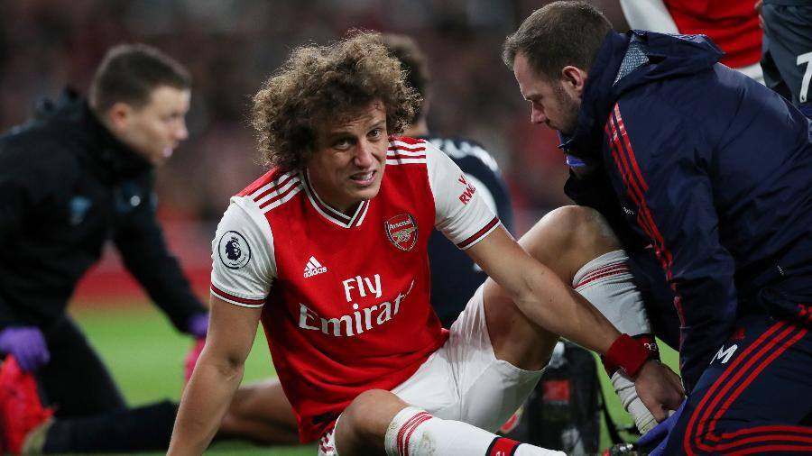 23.fev.2020 - David Luiz durante partida entre Arsenal e Everon - Peter Cziborra / Action Images via Reuters