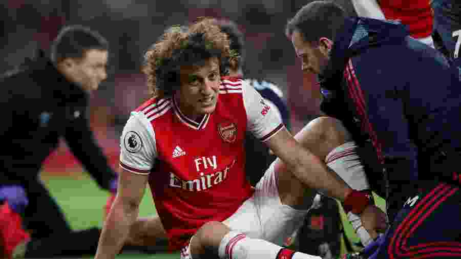 23.fev.2020 - David Luiz durante partida entre Arsenal e Everon - Peter Cziborra / Action Images via Reuters