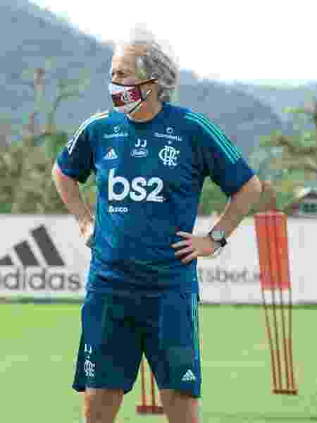 Jorge Jesus comanda treino do Flamengo em meio à pandemia de coronavírus - Alexandre Vidal / Flamengo - Alexandre Vidal / Flamengo